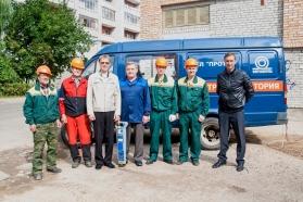Бригада по ремонту и отысканию повреждения кабельной линии во главе начальника ЦЭС